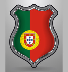 Flag of portugal badge and icon vector