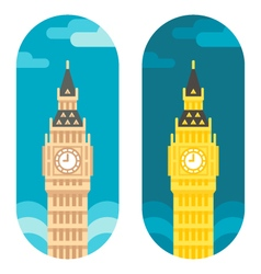 Flat design big ben vector