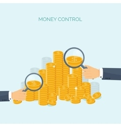 Flat header Money money vector image