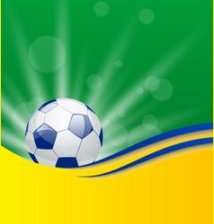 Football card in Brazil flag colors vector