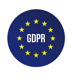 Gdpr - general data protection regulation vector