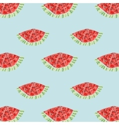 Geometric background with watermelon vector