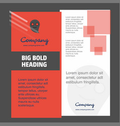 ghost company brochure title page design company vector image