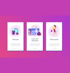 gift card app interface template vector image
