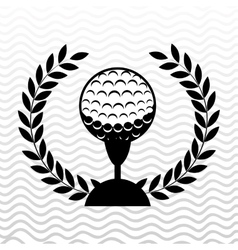 golf championship design vector image
