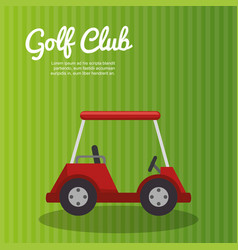 Golf sport cart emblem icon vector