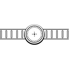 Graphic drawing wristwatch icon vector