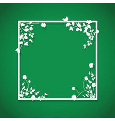 Green floral box vector