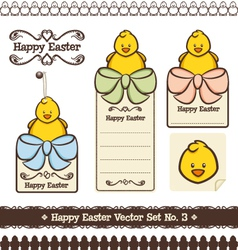 Happy easter set no 3 vector