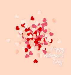 happy valentines day background paper red pink vector image