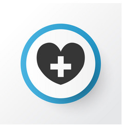 Heart icon symbol premium quality isolated heal vector