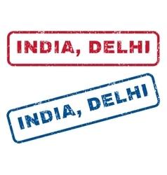 India Delhi Rubber Stamps vector