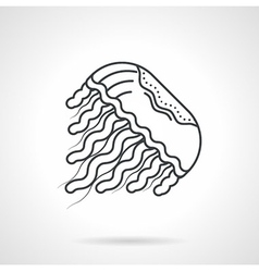 Jellyfish line icon vector image