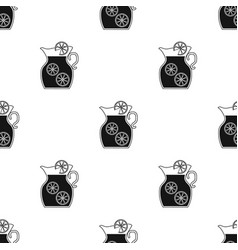 Jug of lemonade icon in black style isolated on vector