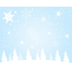 Lanscape winter vector