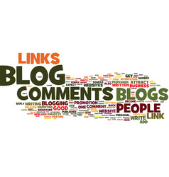 Links from blog comments text background word vector