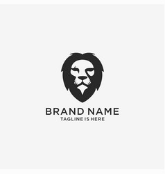 lion logo head icon template vector image