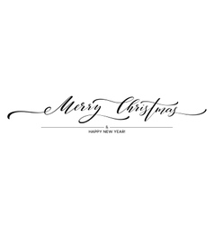 Merry Christmas hand lettering isolated vector