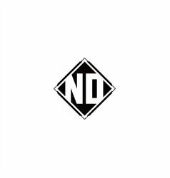 monogram logo design with diamond square shape vector image