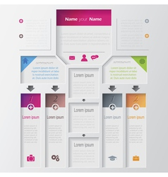 Multilevel infographic design template vector image