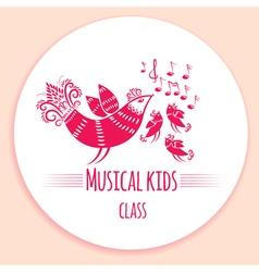 Music kids logo vector