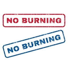 No Burning Rubber Stamps vector