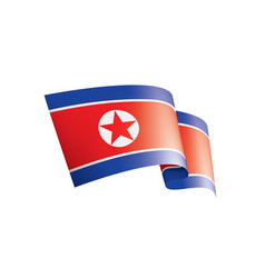north korea flag on a white vector image