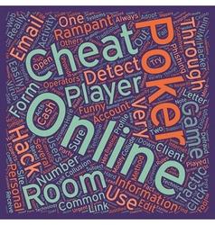 Online poker cheats text background wordcloud vector