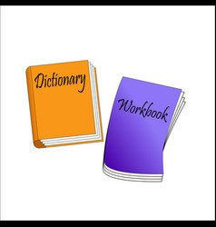 Orange dictionary and vector