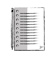 paper leaf notebook icon vector image