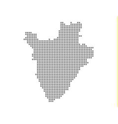 pixel map of burundi dotted map of burundi vector image