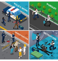 Police Work Concept vector