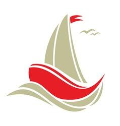 sailingboat2 resize vector image
