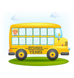 School bus frame vector