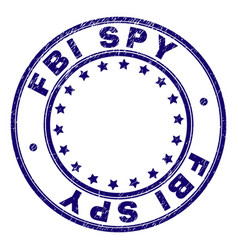 Scratched textured fbi spy round stamp seal vector