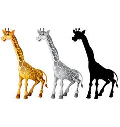 Set of giraffe character vector