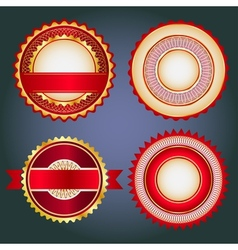 Set of sale badges labels and stickers in red vector image