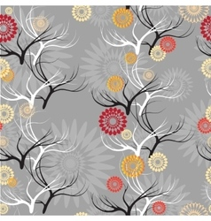 set seamless patterns with branches vector image