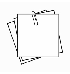 Sheet of paper for notes icon simple style vector image