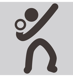 shot put icon vector image