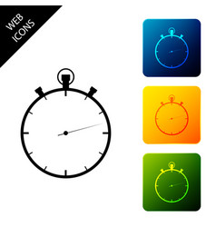 stopwatch icon isolated on white background time vector image