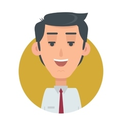 Successful Man Avatar Button Happy Male Emotion vector