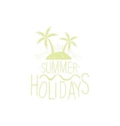 Summer Holidays Beige Vintage Emblem vector