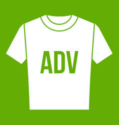 t-shirt with print adv icon green vector image