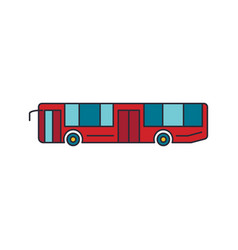 tourist bus icon cartoon style vector image
