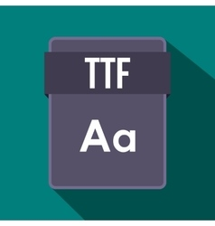 TTF file icon flat style vector