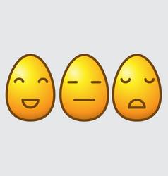 easter egg emoticons vector image