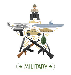 military equipment design vector image