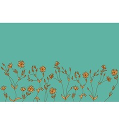 Seamless decorative vintage color design element vector image vector image