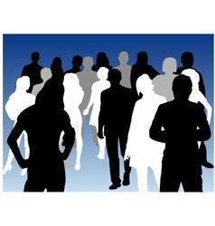 silhouette person vector image